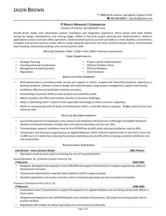 Amazing Sample Resume For Project Coordinator | Resume Format Web