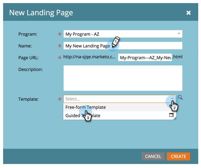 Create a Free-Form Landing Page - Marketo Docs - Product Documentation