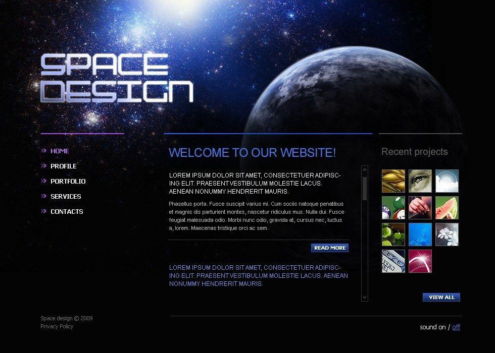 Website Template #23040 Space Design Studio Custom Website ...