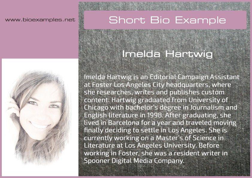Short bio examples | Bio Examples