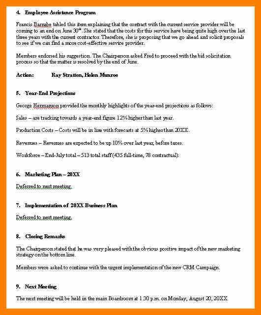 Meeting Program Sample [Template.billybullock.us ]