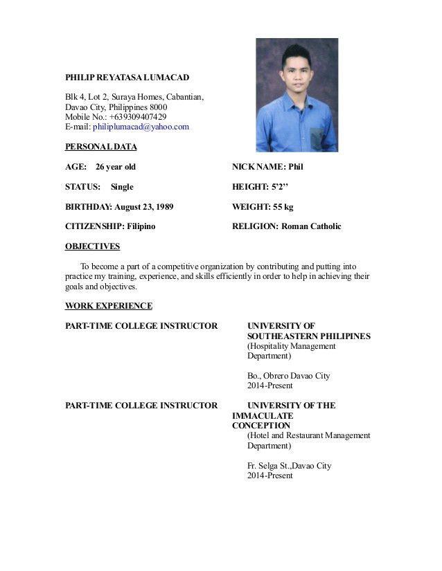 my resume' 4
