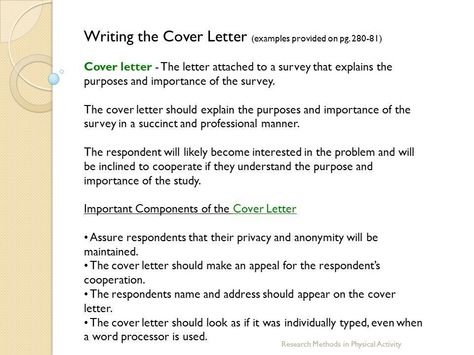 Research Survey Cover Letter Cover Letter Survey Sample Cover - Appeals coordinator cover letter