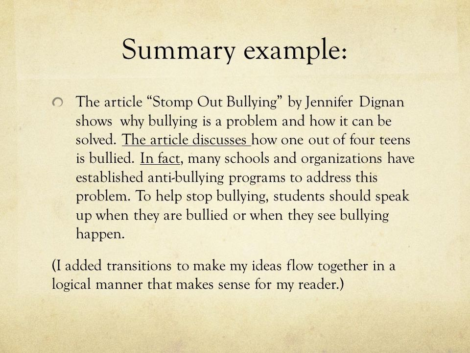 Writing an Objective Summary - ppt download