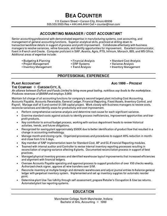 Staff Accountant Resume. Staff Accountant Resume Example Best ...