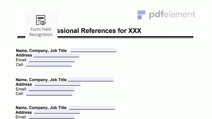 Professional References Template: Free Download, Create, Edit