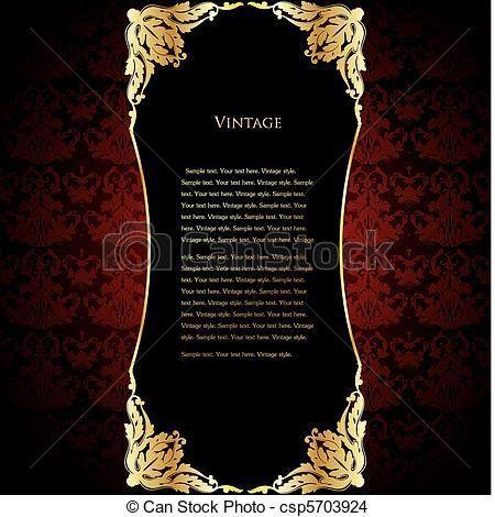 Vectors Illustration of Elegant red wine label template - Elegant ...
