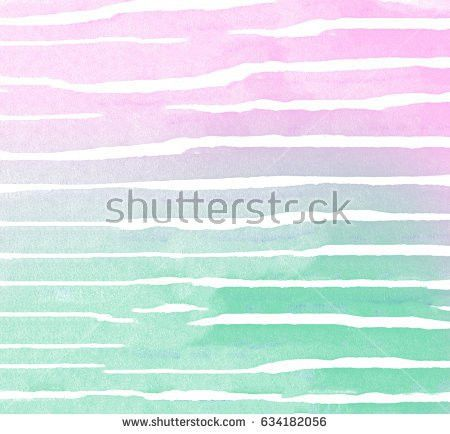 Abstract Creative Hand Draw Watercolor Mint Stock Illustration ...