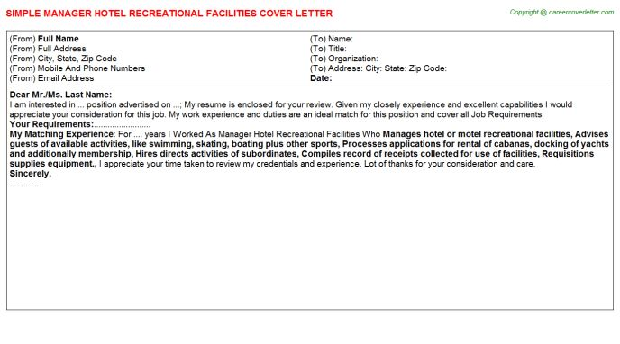 Hotel Sales Manager Introduction Letter To Clients Cover Letter ...