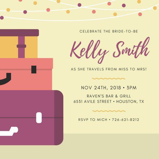 Bridal Shower Invitation Templates - Canva