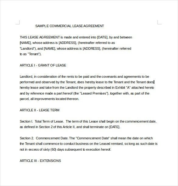 Lease Agreement Template – 19+ Free Word, PDF Documents Download ...