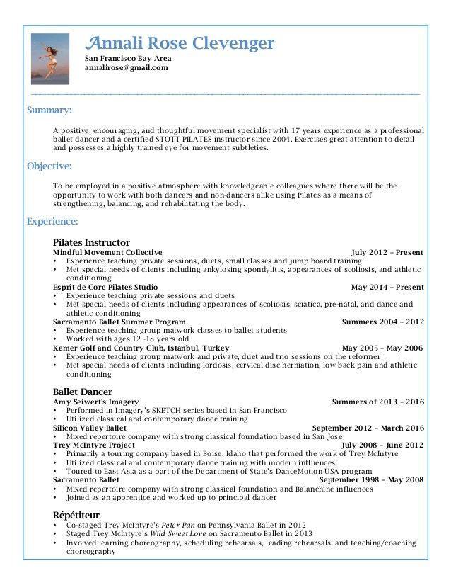 AnnaliRose.Pilates.Resume.Linkedin