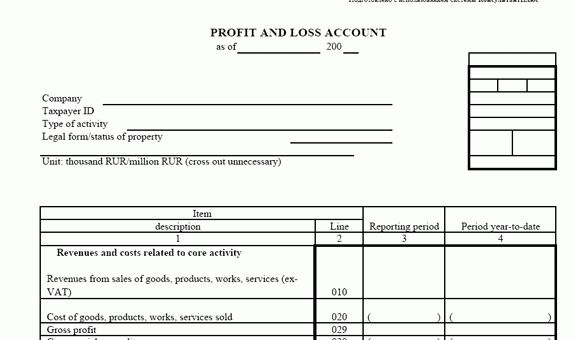 Russian balance sheet N2 Form: PROFIT AND LOSS ACCOUNT/ei001223 ...