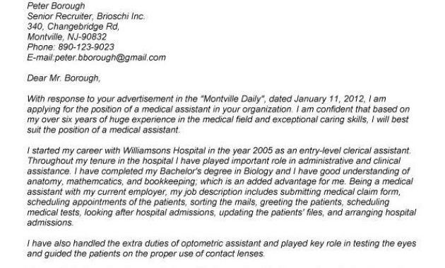Examples Of Cover Letters For Medical Assistants. examples ...