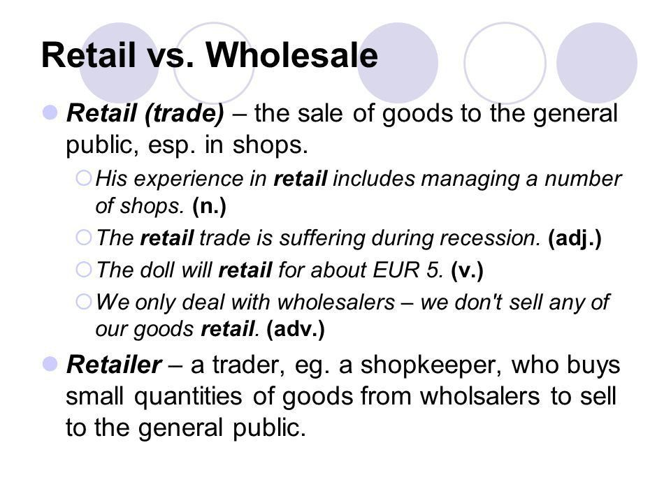 Commerce & Trade. Trade... is the activity of buying, selling or ...