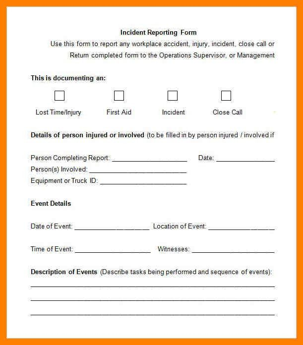 7+ incident report form template | accept rejection