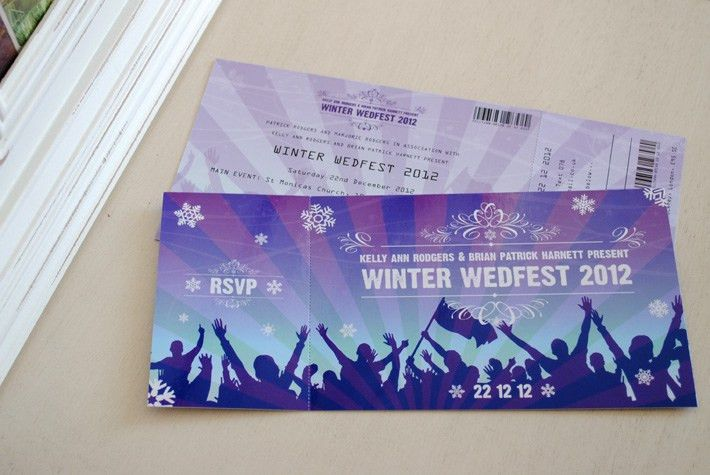 Festival Ticket Themed Wedding Invitations | WEDFEST