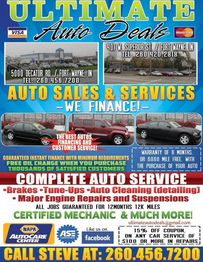 Used Cars Specials Fort Wayne IN 46806 - Ultimate Auto Deals