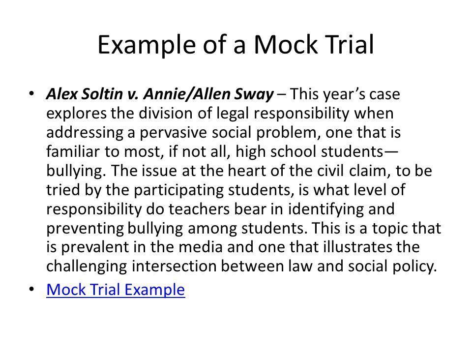 CCHS Law & Order Mock Trial Fall Mock Trial Jury Trial 10 Lawyer ...