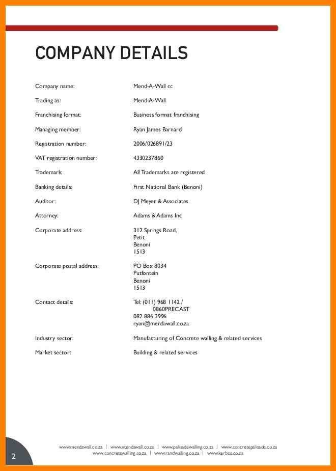 Format Of Company Profile Sample Company Profile Sample 7 Free – Company Business Profile Sample
