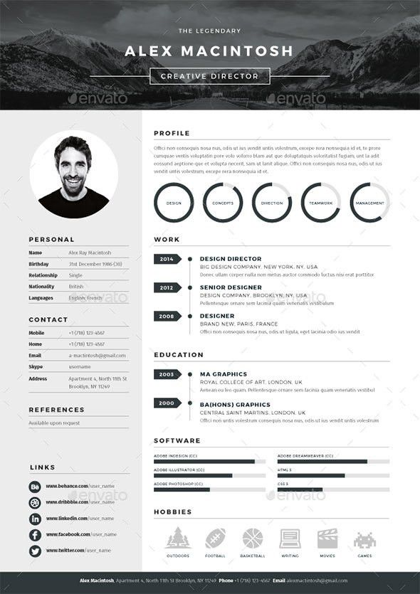 20 Best Resume Templates | Cv template, Curriculum and Cv design