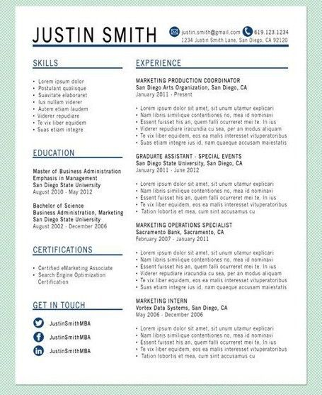 Resume Templates That Stand Out - http://getresumetemplate.info ...