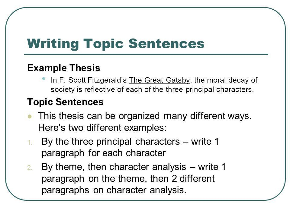 theme paragraph examples