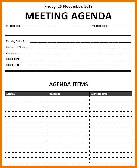5+ meeting agenda template excel | assistant cover letter