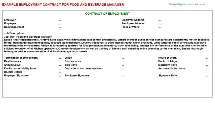 Cover Letter For Job Application Restaurant Manager Finance Within ...