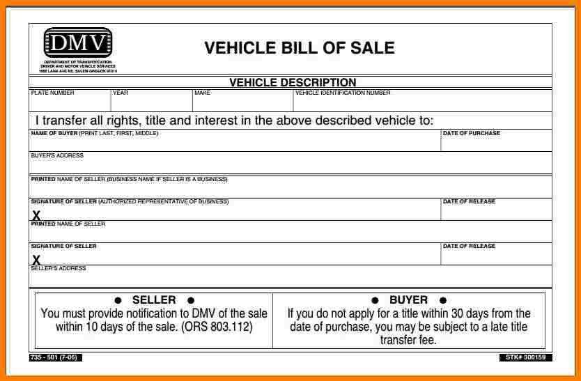 12+ dmv bill of sale | cna resumed