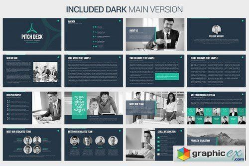 Pitch Deck - Keynote Template » Free Download Vector Stock Image ...