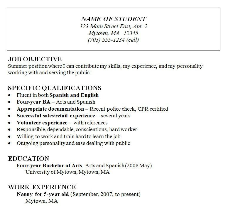 The Chronological Resume