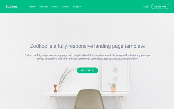Zodkoo - Landing Page Template | Bootstrap Landing Pages ...