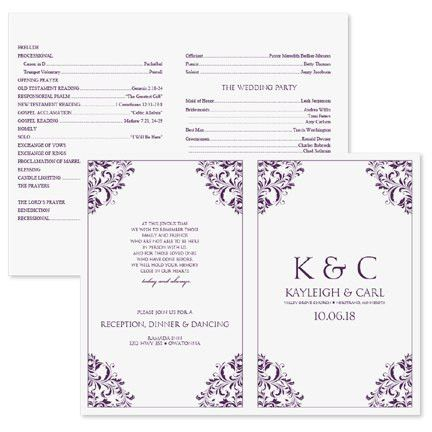 Free Wedding Program Templates Word | Best Business Template
