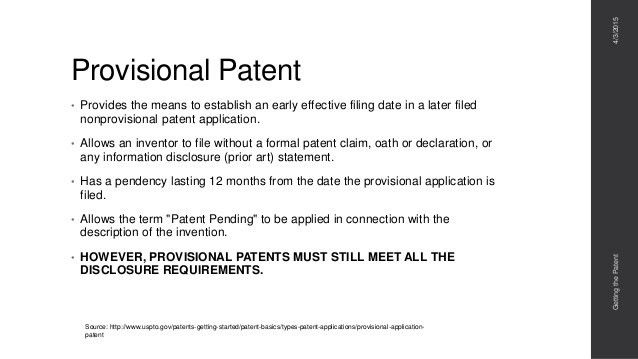 Getting The Patent