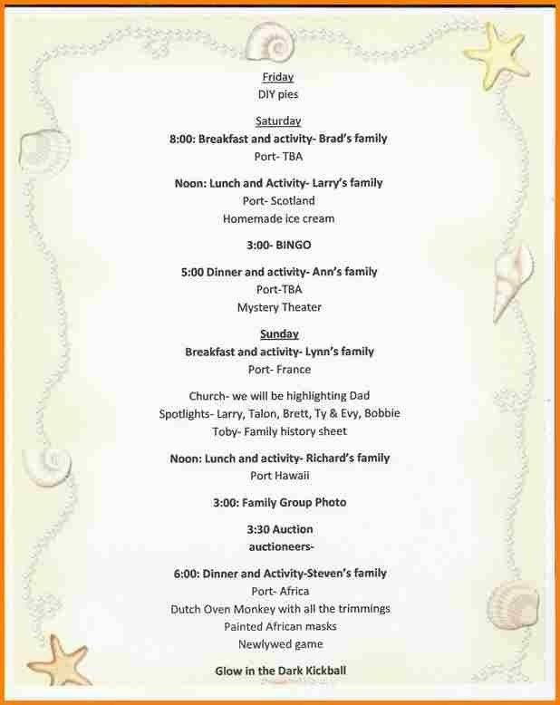 8+ Family Reunion Program Template | Timesheet Conversion ...