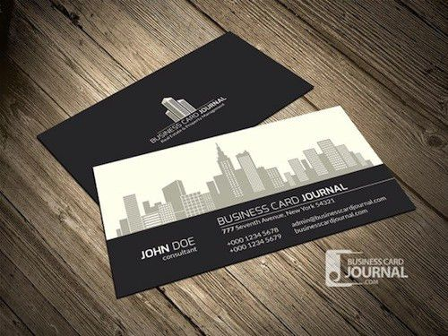 28 Best Free Black and White PSD Business Card Templates