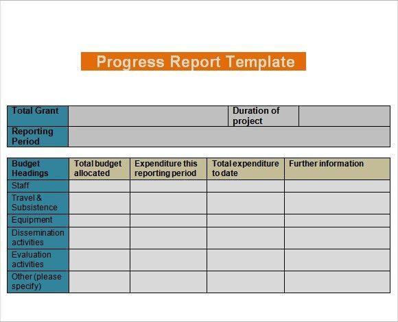 Daily Progress Report Template | sanjonmotel