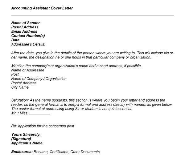 Sample Accounting Cover Letter - My Document Blog