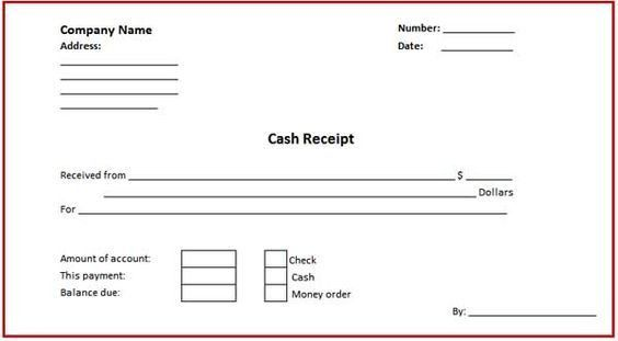 Business Cash Receipt Template is created in format that can ...
