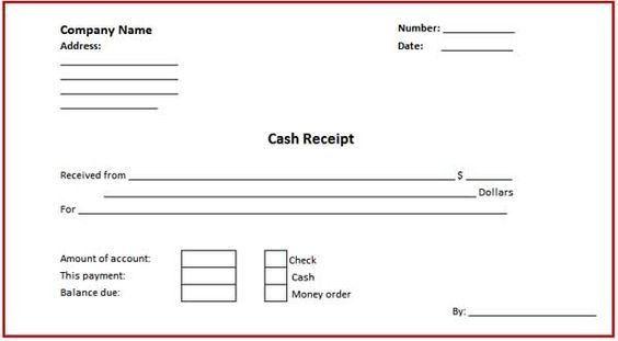 Money Receipt Sample Format | Samples.csat.co