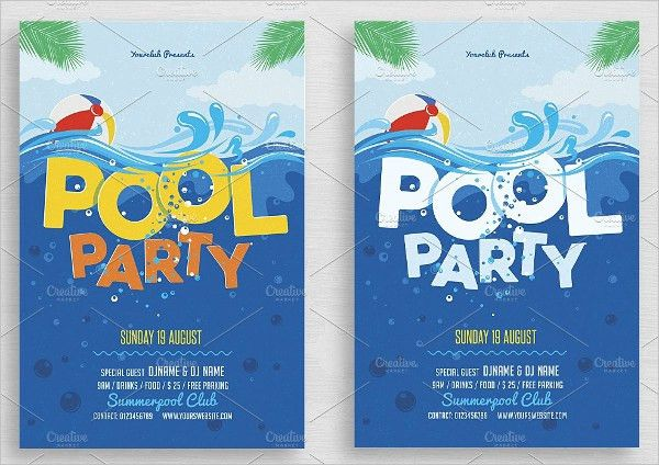21+ Pool Party Invitations - Free PSD, Vector AI, EPS Format ...