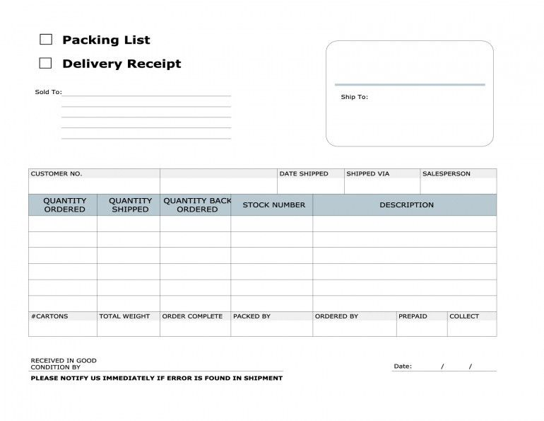 delivery template excel