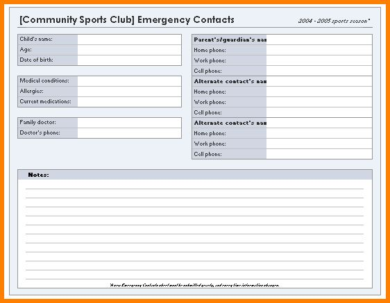 10+ excel contact list template | resume reference