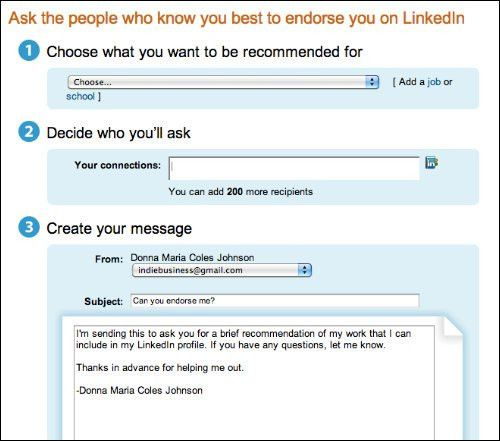How To Request a LinkedIn Recommendation - Indie Business Network