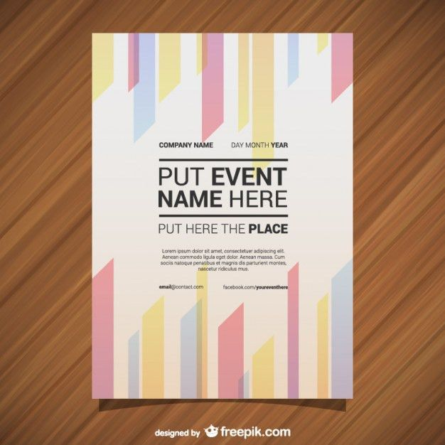 Vector poster template geometric abstract lines Vector | Free ...