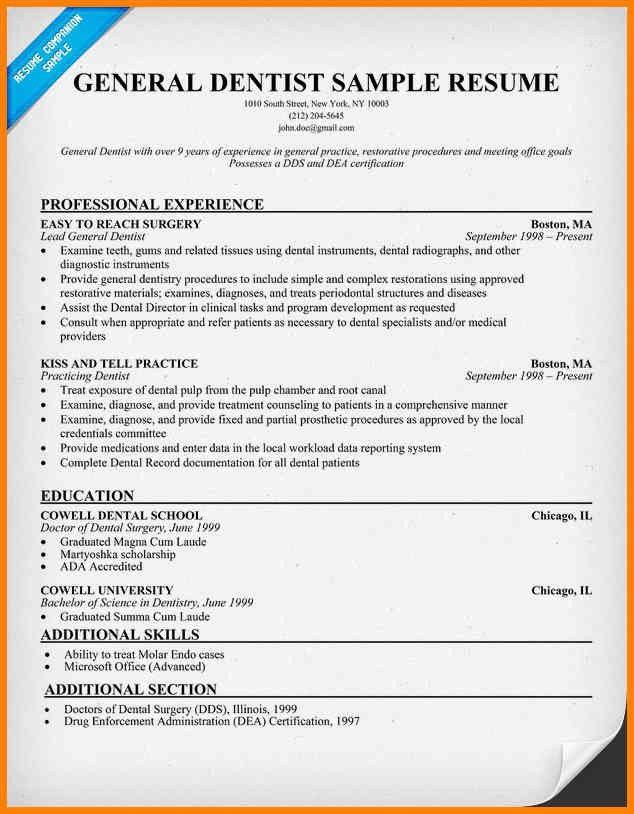 dentist sample resume dentist resume samples visualcv resume