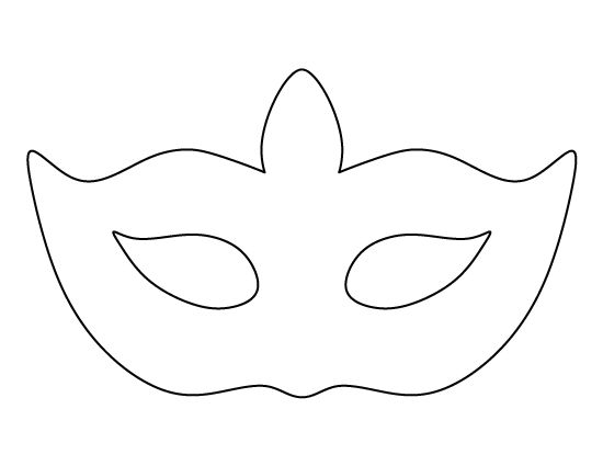 Masquerade mask pattern. Use the printable outline for crafts ...