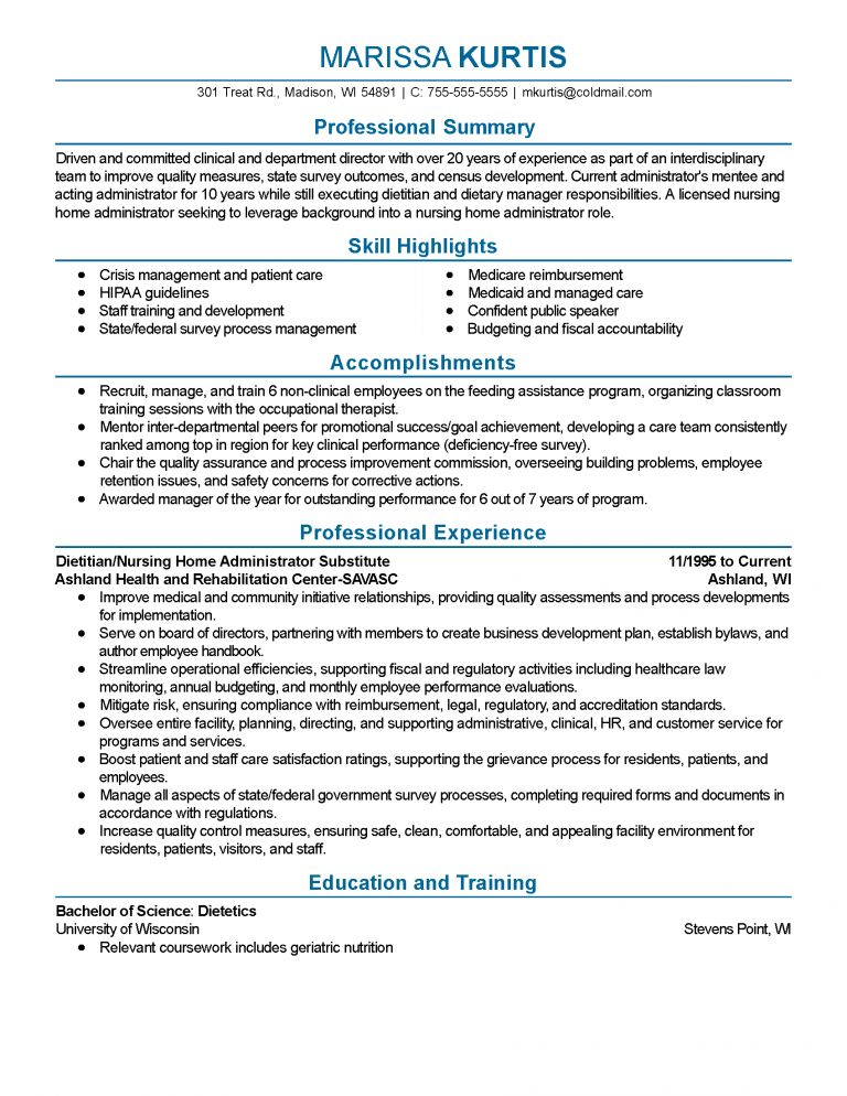 Extraordinary Resumes By Tammy 7 Professional Dietitian Templates ...