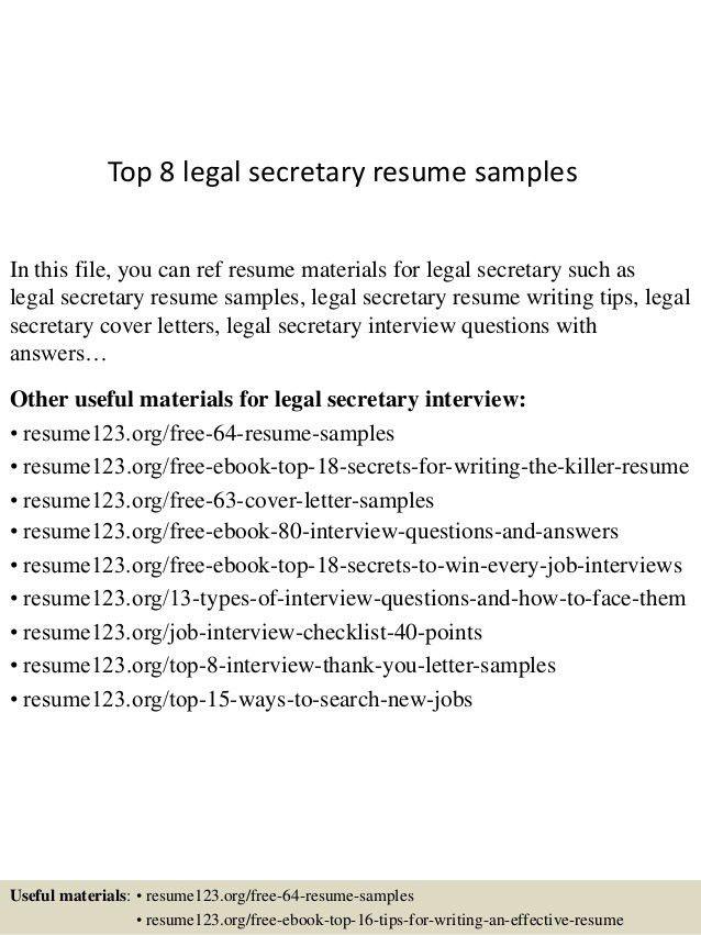 Legal Secretary Resume Examples Secretary Resume Example Legal